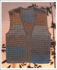 MAN'S VEST Jojoland Knitting Pattern designed by Lijuan Jung for Rhythm
