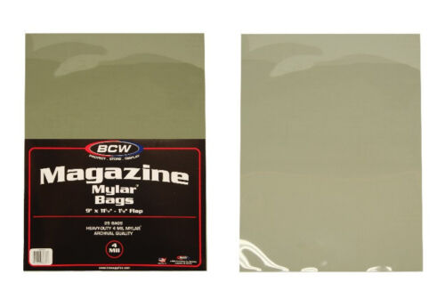 BCW MAG-M4 Magazine Mylar Sleeves 4mil Bags Covers Store Protect Archival 100