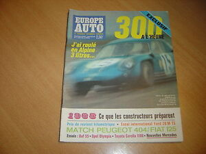 Europe-Auto-N-11-Ford-20-M-TS-Alpine-3-Litres-Fiat-125-Peugeot-404