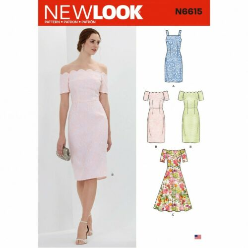 New Look Sewing Pattern 6615 Dresses A 10-12-14-16-18-20-22