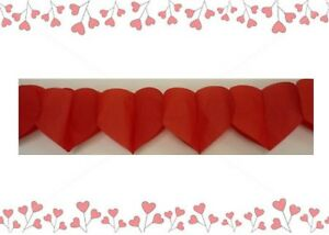 Valentines-Day-Love-Wedding-Party-Supplies-Red-Hearts-Paper-Garland-4-metres