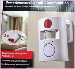 alarmanlage bewegungsmelder schutz sicherheit sirene inkl batterien 6v m gl. Black Bedroom Furniture Sets. Home Design Ideas