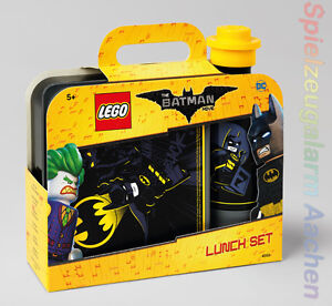 LEGO Storage The Batman Movie Set Brotdose + Trinkflasche Schwaz Lunch Box Black