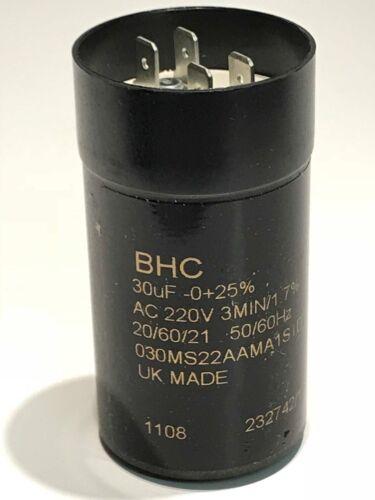 30UF 220V BHC UK MADE avvio del motore di qualità Premium Condensatore ac1f28