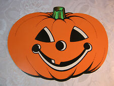 Vintage Halloween Diecut Cut out Decoration Jack Lantern