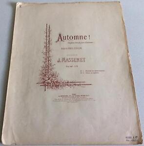 Automne Jules Massenet Poésie De Paul Collin Partition Ténor Ou