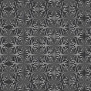 Geometrique-Etoile-Papier-Peint-Argent-Noir-Holden-Decor-12616-Metallique-Neuf