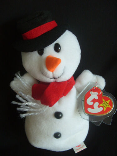 TY BEANIE BABY SNOWBALL THE SNOWMAN - MINT - RETIRED