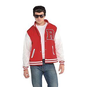 Mens 50s Letterman College Varsity Retro Prep Jock Jacket