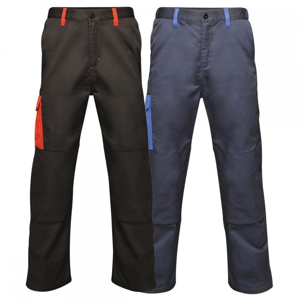Regatta Contrast Collection Two Tone Colour Contrast Work Wear Combat Trousers
