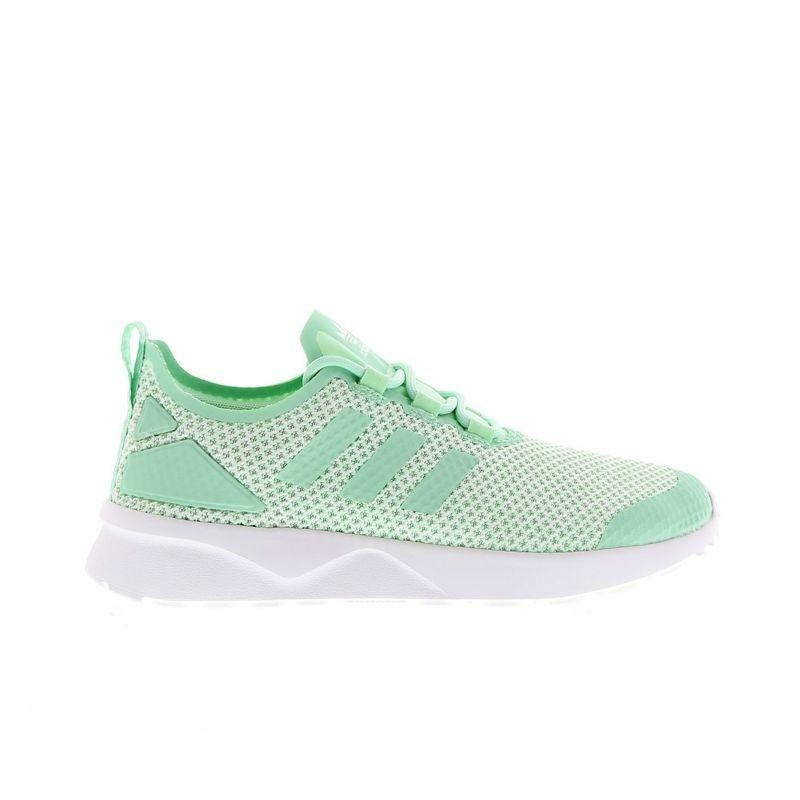Womens Adidas ZX Flux Adv Verve Flyknit Low Green Trainers AQ4744