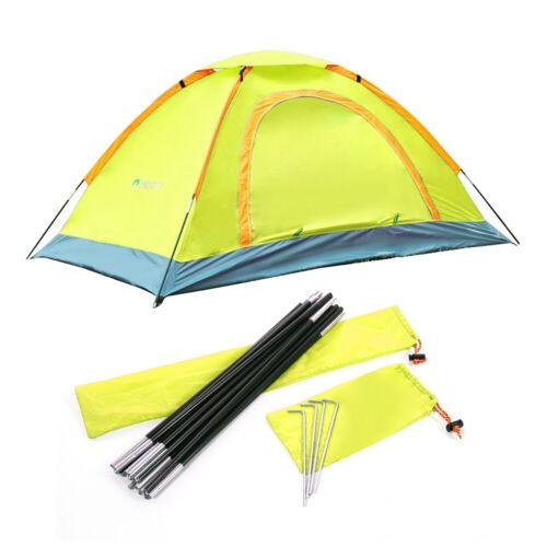 2 Man Camping Tent Double Door Waterproof Room Outdoor Hiking Backpack Fishing