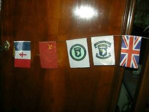 1//6 DID 3R ACCESSORIES ww2  ALLIED BIG bunting flags 5 pieces FRENCH RUSSIAN