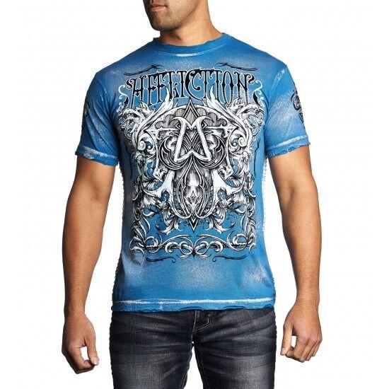 3c34c925 Herrenmode AFFLICTION T-Shirt CAST INTO