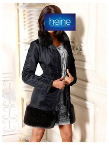 c5359b3908db Details zu Mantel. Linea Tesini by heine. Schwarz. NEU!!! KP 169,90 €  SALE%%%