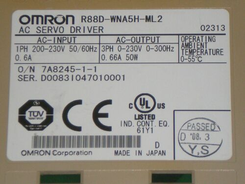 Omron R88D-WNA5H-ML2 AC Servo Driver Controller Drive Free Shipping!