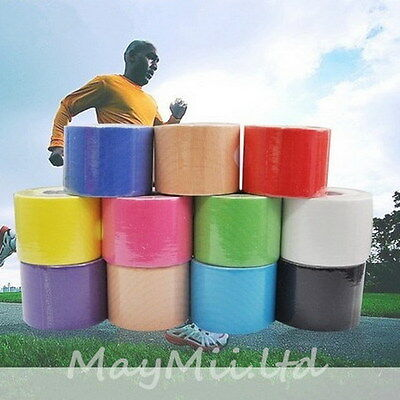 M 5m x 5cm Kinesiology Sports Muscle Care Elastic Physio Therapeutic Tape 1 Roll