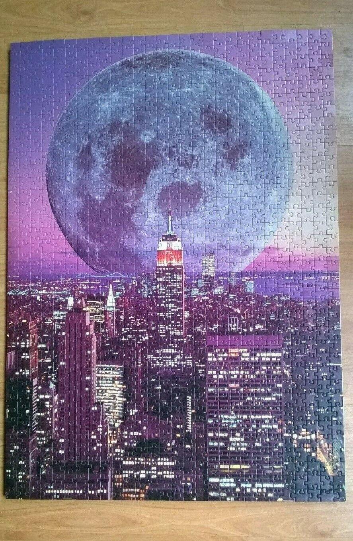 Puzzle ravensburger new york torri gemelle di notte 1995 1000 pezzi