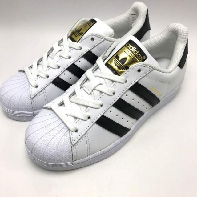 adidas Womens Originals Superstar White Black Gold C77153 Size 9 for ... d49a53be4
