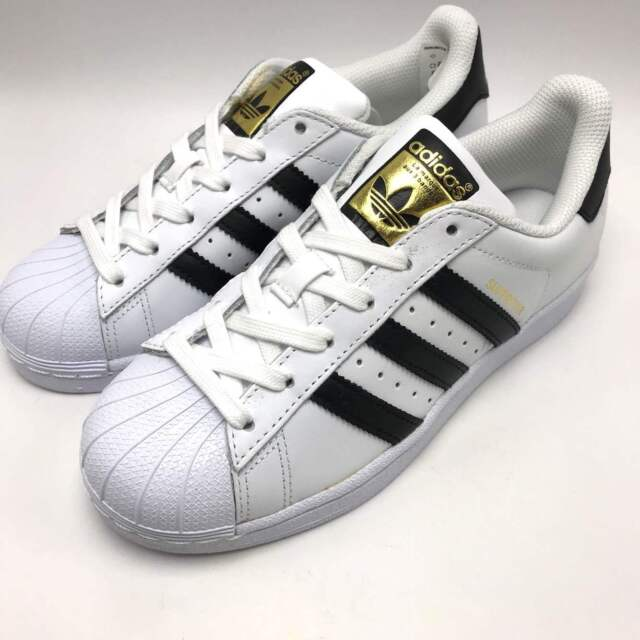 adidas Womens Originals Superstar White Black Gold C77153 Size 9 for ... c3deff890e