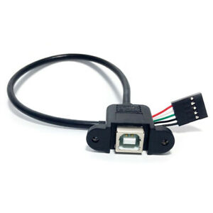 USB-B-Female-Panel-Mount-To-5-Pin-Motherboard-Printer-Cable-JzJ-u