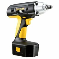 Cordless Wrench Impact Drill Gun 1/2 Drive 24-volt 240 Ft Torque Case Battery