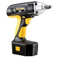 Cordless Wrench Impact Drill Gun 1/2 Drive 24-volt 240 Ft Torque Case Battery