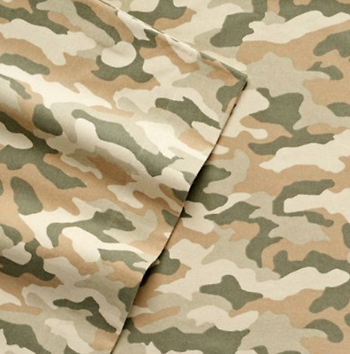 Cuddl Duds Flannel Sheet Sets Camo Queen MSRP BRAND NEW $89.99