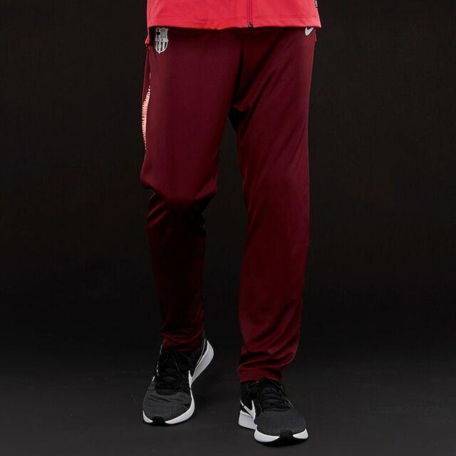 alias cruzar Catástrofe  Nike FC Barcelona Dri-FIT Squad Men's Football Pants Deep Maroon/Light Pink  M for sale online   eBay