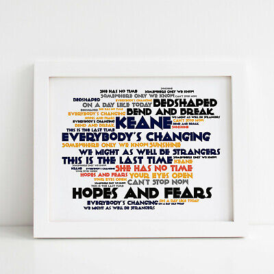 Somewhere only we know lyrics Keane wall art home poster no frame