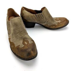 B-rn-Amibeth-Basa-Nova-Bootie-Born-B75516-Leather-Taupe-Tan-Size-US-7-EU-38