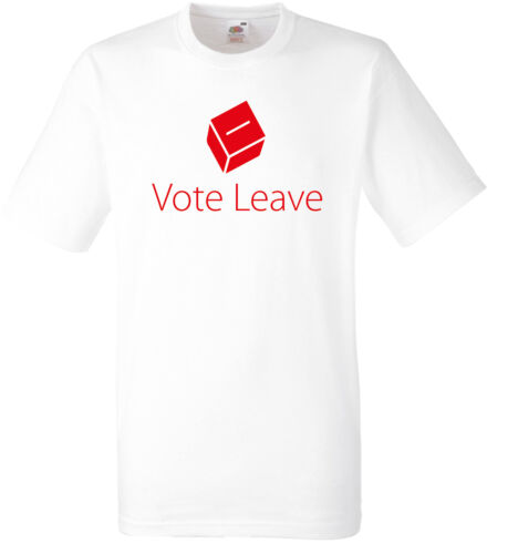 VOTE LEAVE T-SHIRTEXIT EUROPE REFERENDUMEURED OR WHITE