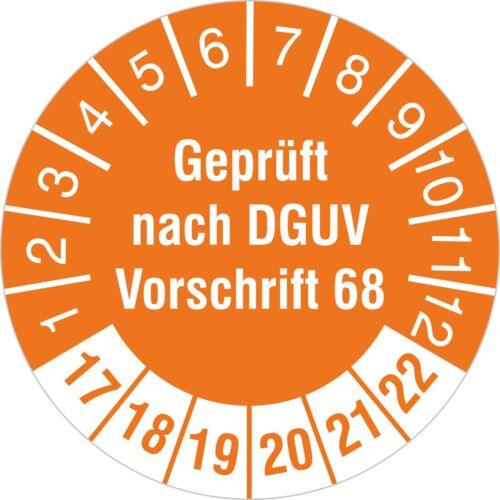BGV D27 30 mm  Prüfetiketten Prüfplaketten Geprüft nach DGUV Vorschrift 68