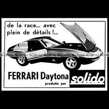 SOLIDO FERRARI DAYTONA 1967 : Pub / Publicité / Original Advert Ad #D244