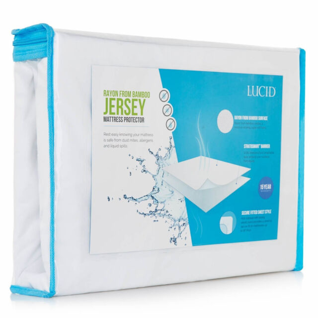 Twin XL Waterproof Mattress Protector White Bed Cover ...
