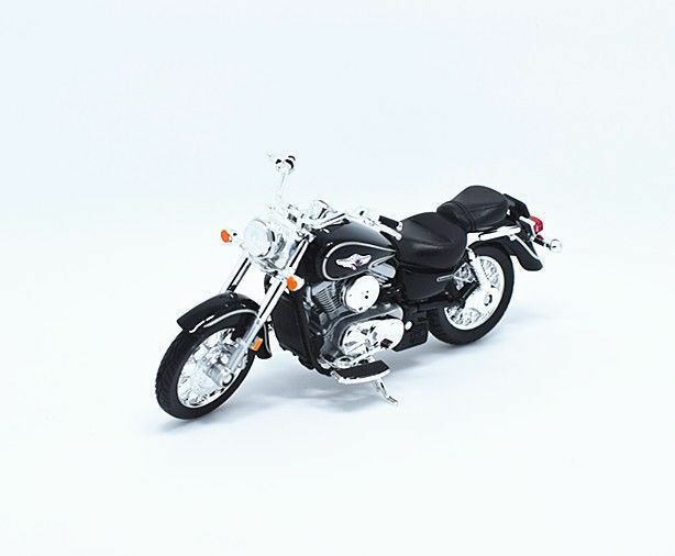 1:18 Welly 02 Kawasaki VULCAN 1500 CLASSIC Motorcycle Bike Model Black