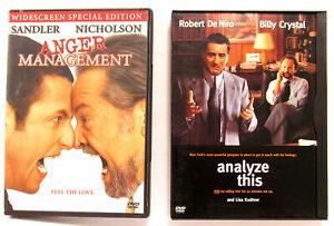 Analyze This 1999 Dvd Snap Case Anger Management 2003 Widescreen Dvd Ebay