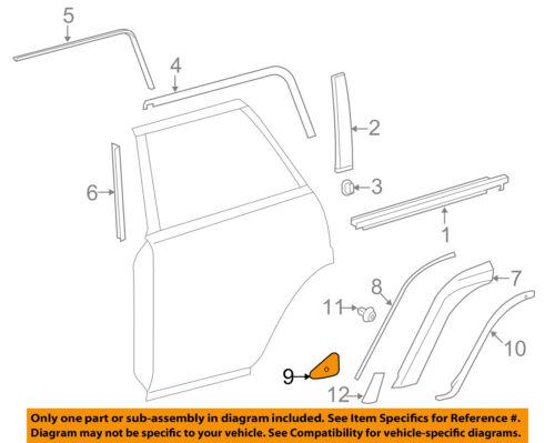 TOYOTA OEM 10-18 4Runner REAR DOOR-Flare Extension Retainer Right 7539335090