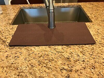 Brown Kitchen Sink Faucet Splash Guard Protects Granite Sink Edge From Chipping Ebay