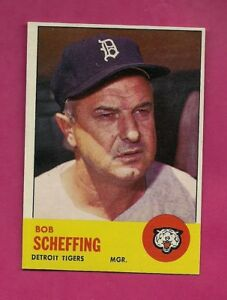 1963-TOPPS-134-TIGERS-BOB-SCHEFFING-MANAGER-NRMT-CARD-INV-A4832