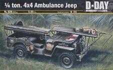 Italeri [ITA] 1/35 1/4 Ton 4x4 Ambulance Jeep Normandy Plastic Model Kit 0326