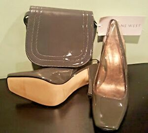 Women-s-Nine-West-Grey-7-M-Shoes-amp-Small-Bag