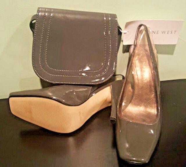 Women's Nine West Grey 7 ½ M Shoes & Small Bag