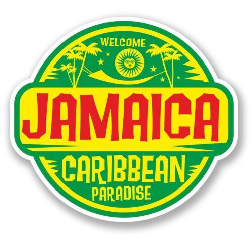 2 x Jamaica Jamaican Vinyl Sticker Laptop Travel Luggage Car #5750
