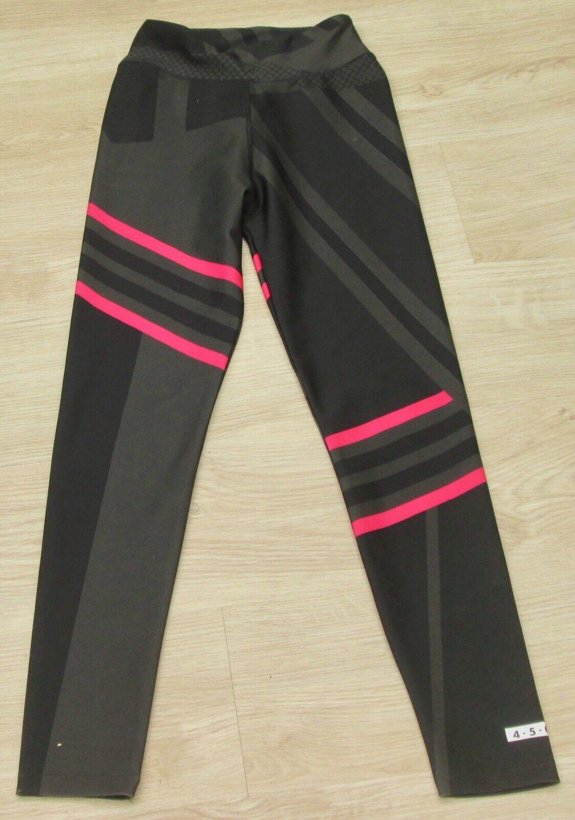 ASOS tolle Leggings schwarz khaki pink geometrisch gemustert Gr 36 NEUw