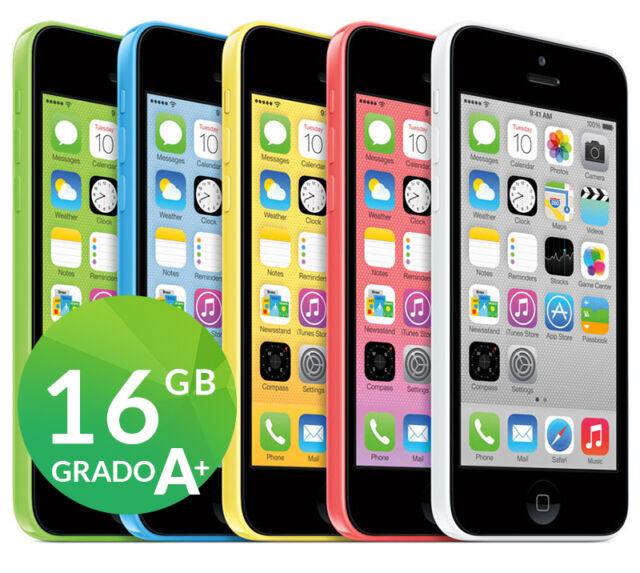 APPLE IPHONE 5C 16GB ORIGINALE RIGENERATO A SIM FREE GARANZIA ACCESSORI
