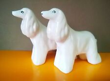 Two Afghan Hound Cute miniature  porcelain figurines dog