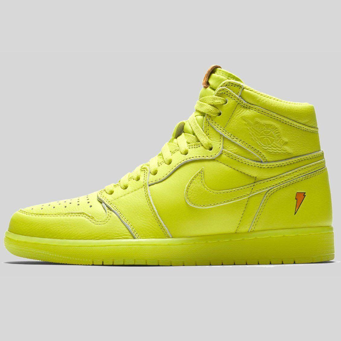 2017 Nike Air Jordan 1 Retro High OG Gatorade Cyber Yellow Size 10. AJ5997-345