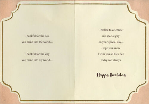 Tips of Toes Photo with Bow Hand Decorated Keepsake Boyfriend Birthday Card