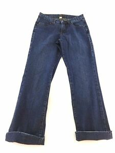 JAG WOMENS DARK WASH STRETCH MID RISE BOOT CUT JEANS SIZE 6